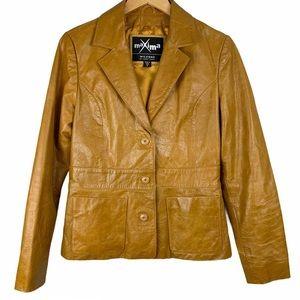 Maxima Wilsons Leather Tan Honey Leather Jacket